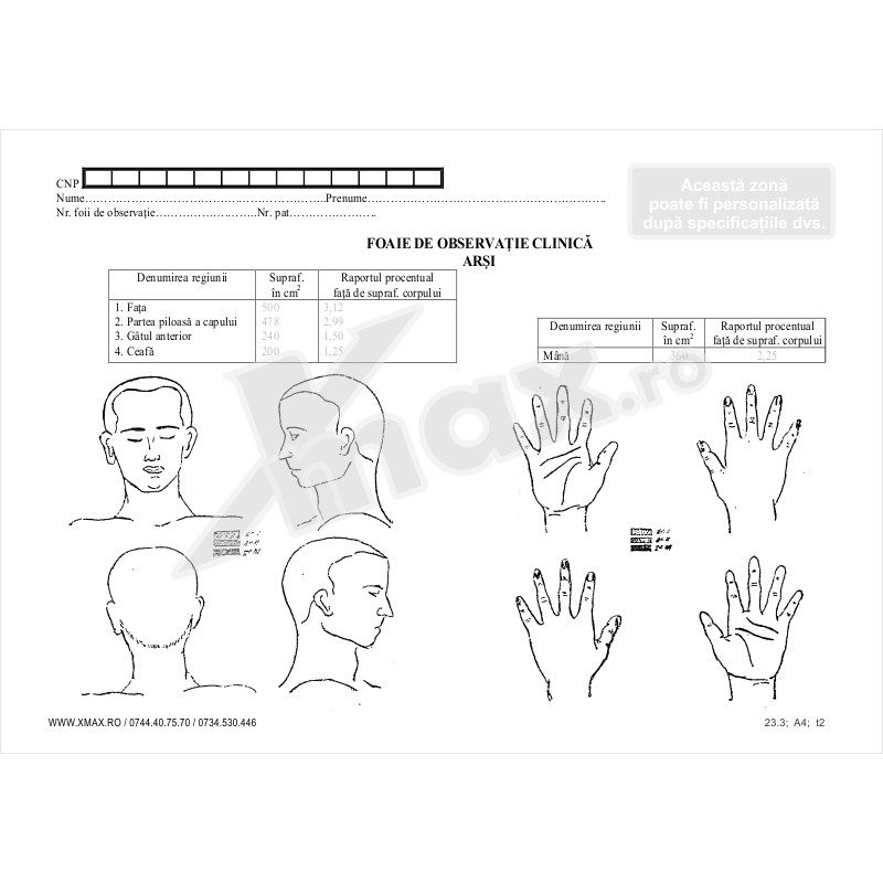 Foaie de Observatie Clinica Arsi 23.3 - Anexa 4 - fata