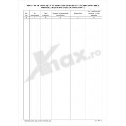 Registru de Evidenta Autorizatii Produse Stupefiante 27.9 st