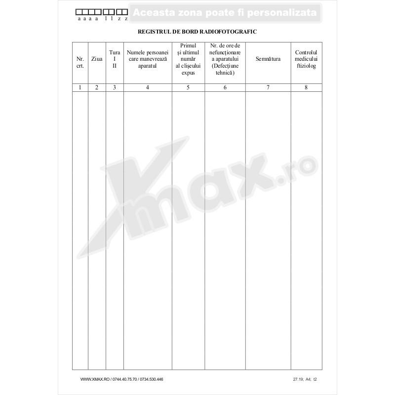 Registru de Bord Radiofotografic 27.19