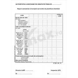 Raport Semestrial al Furnizarii Serviciilor de Planificare Familiala 27.52