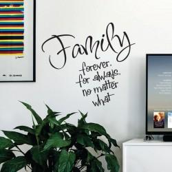 Sticker perete Family forever - Cod w054