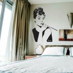 Sticker perete Audrey Hepburn - Cod w085