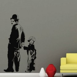 Sticker perete Charlie Chaplin - Cod w097