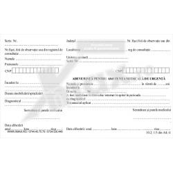 Adeverinta pentru asistenta medicala de urgenta 10.2